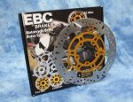 STREET TRIPLE 675 & R 2007-13: Front Brake Discs EBC MD800X 1 Pair. KBA/TUV. PLUS+10 FreeDisc Bolts.